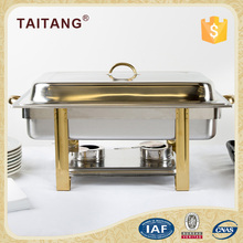 Names of kitchen equipments steel round chafing dish with glass