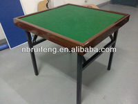 "48"" square mahjong table with folding steel leg"