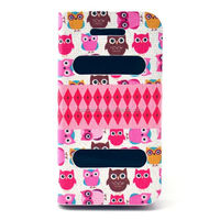 High quality Owl Leather case for iphone 4G 4S stand flip case