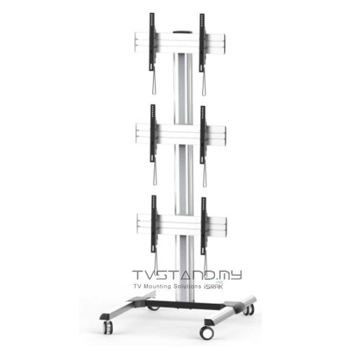 "Portable Triple Video Wall TV Stand ( LED/LCD/Plasma ) upto 45""-55"" - TS115-SVR"