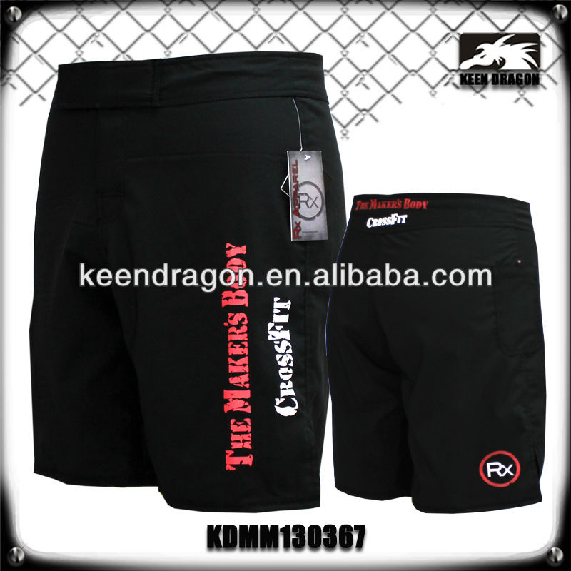 Men's short 100% polyester custom printed cheap mma shorts