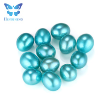 Hengsheng 2017 summer hot sale freshwater baby blue loose dyed pearls for DIY jewellery