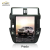 Intelligent android 7.1 dvd navigation vertical screen audio car system for toyota prado 2012 gps