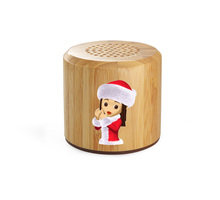 Hairong eco friendly The Best Wooden Bluetooth speaker with led light speaker bluetooth