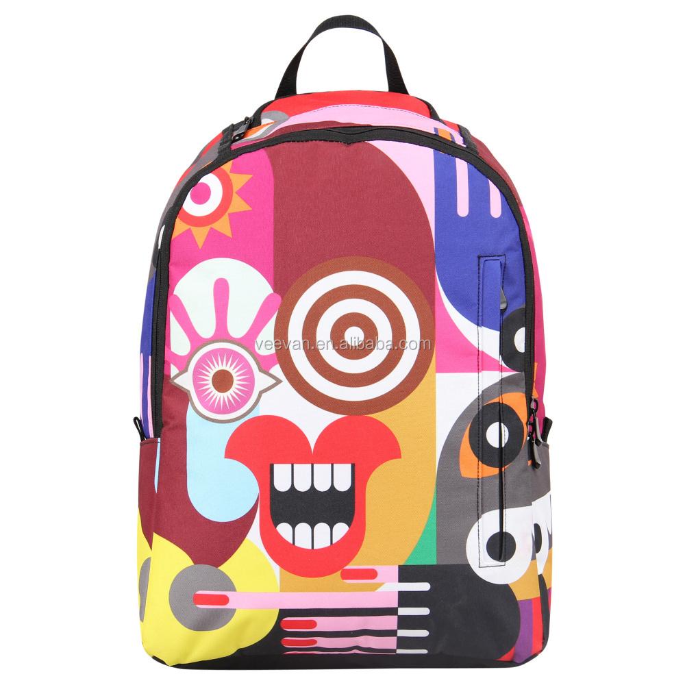 Best Printed Backpack College Student Shoulder Book Bag,Polyester ...