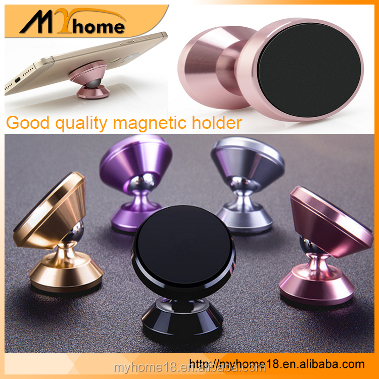High quality low price magnetic car one touch cell phone mount stand 360 rotating magnet phone holder