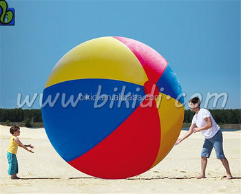 Wholesale colorful PVC giant inflatable beach ball D3054