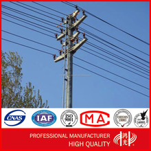 230KV Hot Sale Round Galvanized Electric Power Steel Tower