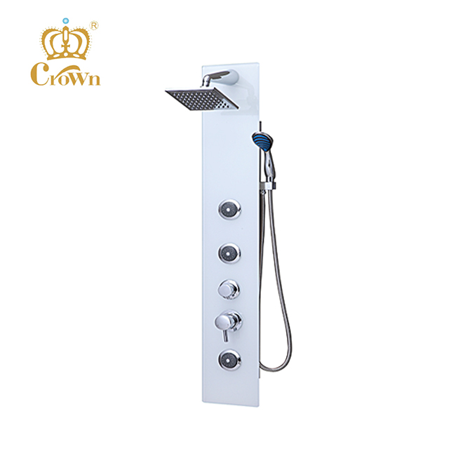 Rain bath shower,shower mixer,glass massage shower panel