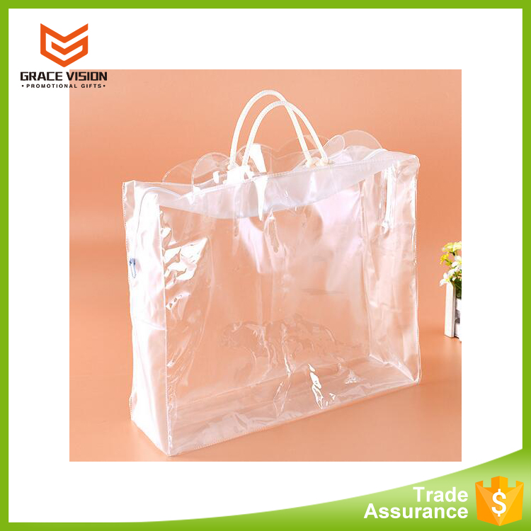 High quality transparent zipper blanket plastic bag