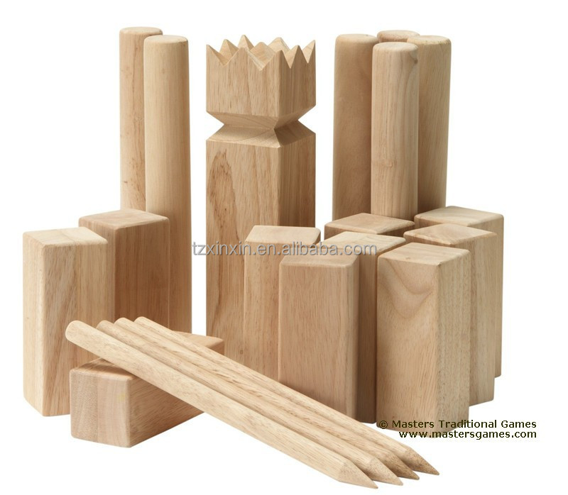 custom wooden kubb from viking kubb factory since 1995