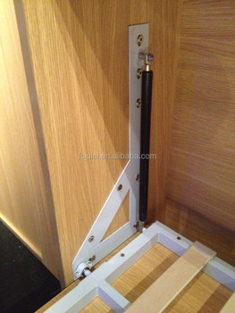 Locking Gas Spring Mechanism For Wall Bed