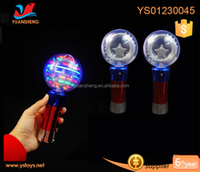 Colorful lighting plastic children toys flash rotate funny light wand