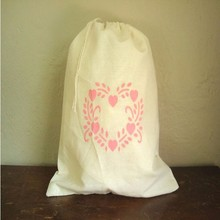 printing personal decorative pattern cotton fabric drawstring gift wrap bag