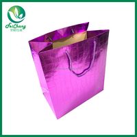 Low cost recycled paper shopping bag
