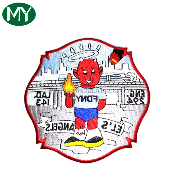 Factory iron on towel embroidery patch with custom design