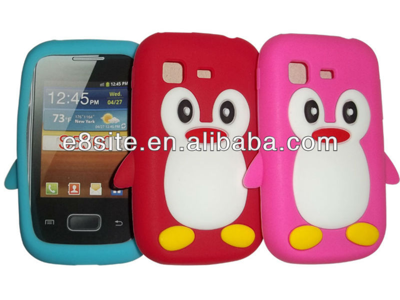 Penguin Silicone Case For SamSung S5300 Galaxy Pocket