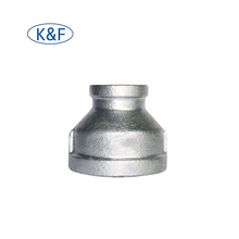"1"" X 1/2"" Malleable Iron Galvanized Reducing Coupling Socket Pipe Fitting"