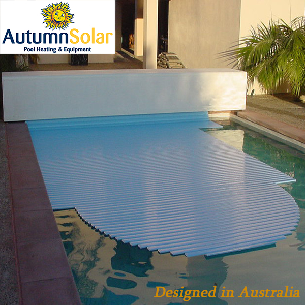 Above Ground Hard Plastic Swimming Pool Slatted Cover Built In 12v ...