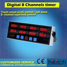 Fast food restaurant timers touch screen 8 channels digital commercial kitchen timer
