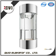 small home passenger elevator lift with round glass