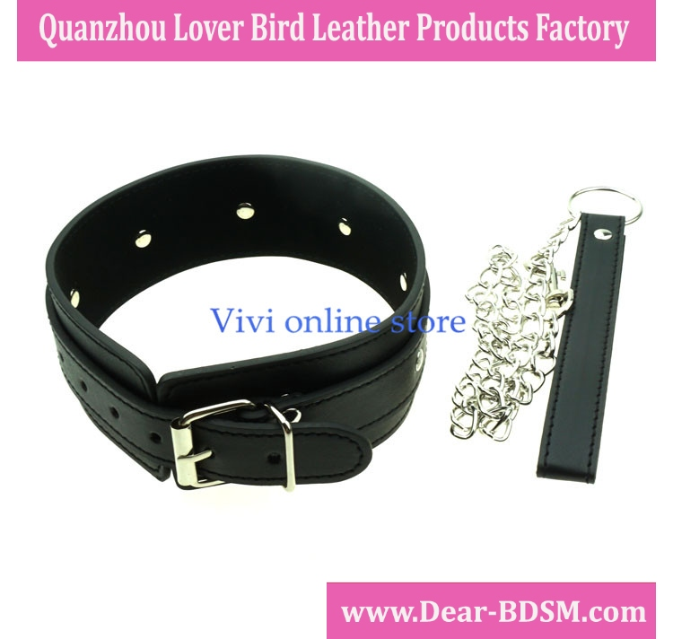 Adult Games PU Leather Sex Adult Collars For Women And Men Sex Products Sexy Collar Ring Slave Sex Collar Leash