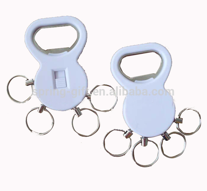 New products bottle opener with 4 key rings