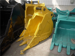 popular sale factory price Hyundai 600mm width excavator parts of hard rock bucket