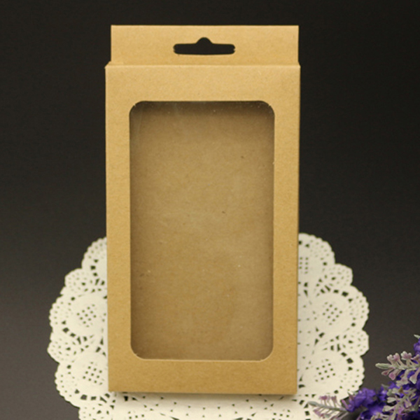 Hybird custom printing kraft paper phone case packaging box for iphone 5 6 7