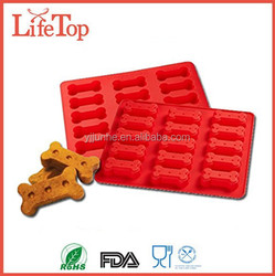 New Arrival Dog Treat Cake Pan, Silicone Bone Mold