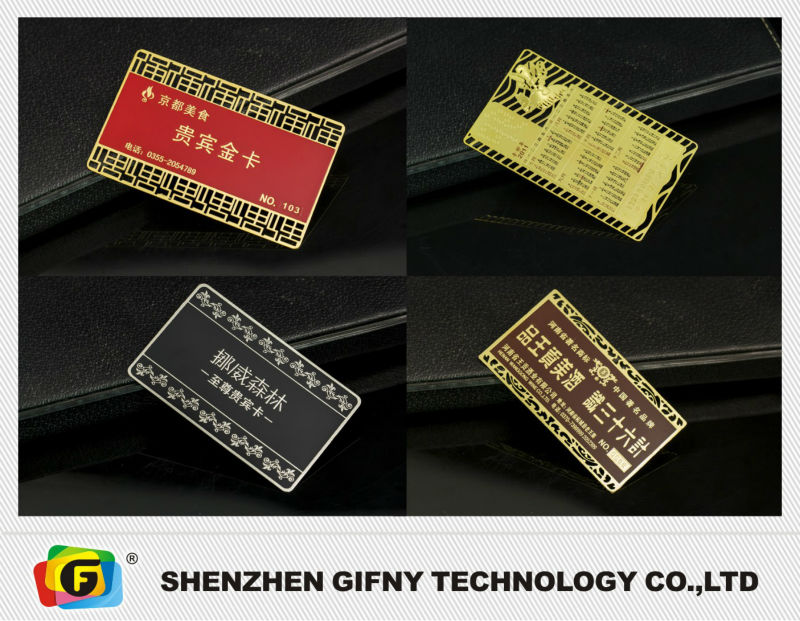 China supplier high quality brushed metal business cards
