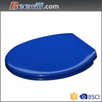 European standard soft close toilet seat in blue color