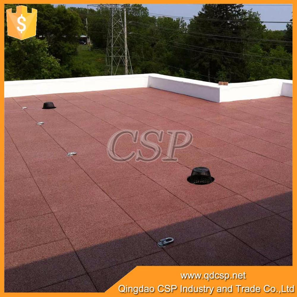 Rubber floor tiles outdoor