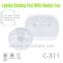 2015 Fashion cheap double fans USB laptop cooling pad
