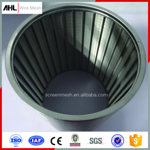Welded V Wire Water Well Rotary Screen Stainless Steel V-Wire Wound Johnson Wedge Wire Screen Filter