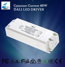 60W Constant Current Dimmable DALI LED Driver; Output Current 1000mA,1800mA,2500mA for downlight, panel light, ceiling light
