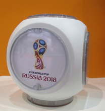New products plastic world cup soccer globe clock