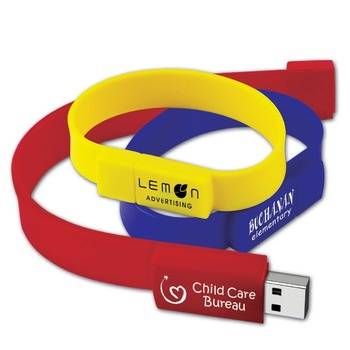 Bulk Purchasing Bracelet USB Memory Sticks, Classical Silicone Wristband USB Pen Drive
