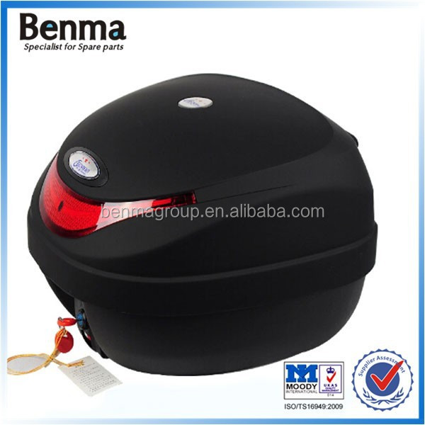 super quality motorcycle tail box with keys,black color motorcycle box