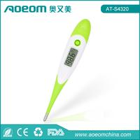 Rapid Flexible Tip Waterproof 10 seconds flexible tip digital oral thermometer