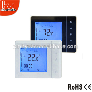 3 speed fan coil unit wall digital touchpad thermostat