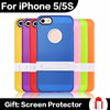 Wholesale Fashion Phone Case For iPhone 5 5S Kicktand Holder Back With Hard Bracket Multi Colors Soft TPU Phone Cases in Stcok