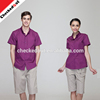Hot sale wholesale customized color summer short sleeve uniforms for waiters waitress