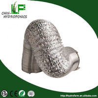 "Hydroponics ventilation system double layer 4""/6""/8""/10""/12"" aluminium foil for air duct"
