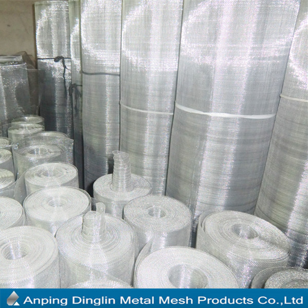 SS Finish Anping Aluminum wire mesh for window/door screen