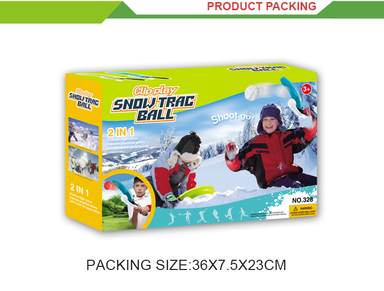 Top selling outdoor winter play toys snow ball machines