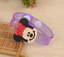 New Light up pvc Bracelet cartoon silicone wrist band OEM promotion gift