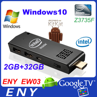 Quad Core Intel Mini PC Stick Atom Z3735F Dual Boot Win10 Android 4.4 Eny Win10 Intel Pocket Mini Android Smart Pc