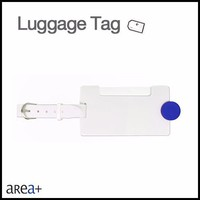 promotion item blue button custom plastic luggage tag baggage tag name tag