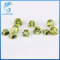 wholesale price natural cut peridot stone ,brilliant round semi precious gemstone beads